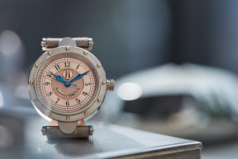 @watchonthewrist and his Vianney Halter Classic (with salmon-coloured dial)