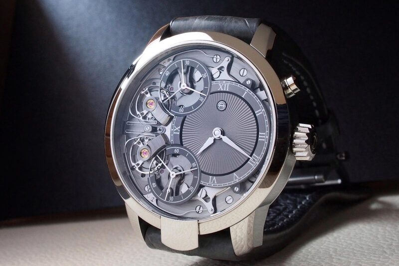 @winewhiskywatches and his Armin Strom Mirrored Force Resonance with Kari Voutilainen Guilloché Dial