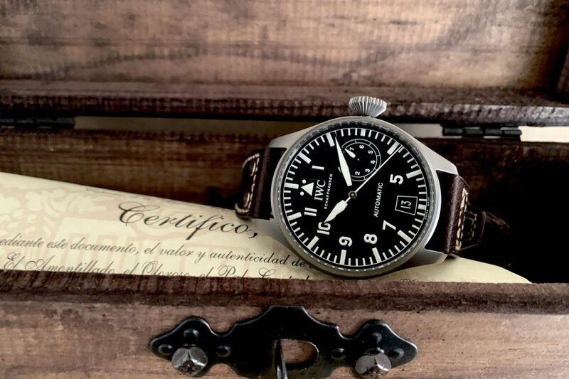 """@winewhiskywatches and his IWC """"Safari"""" Big Pilot (AKA the Tribute to 5002)"""