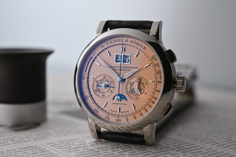 A. Lange & Söhne Datograph Perpetual Tourbillon with Pink Gold (Salmon) Dial