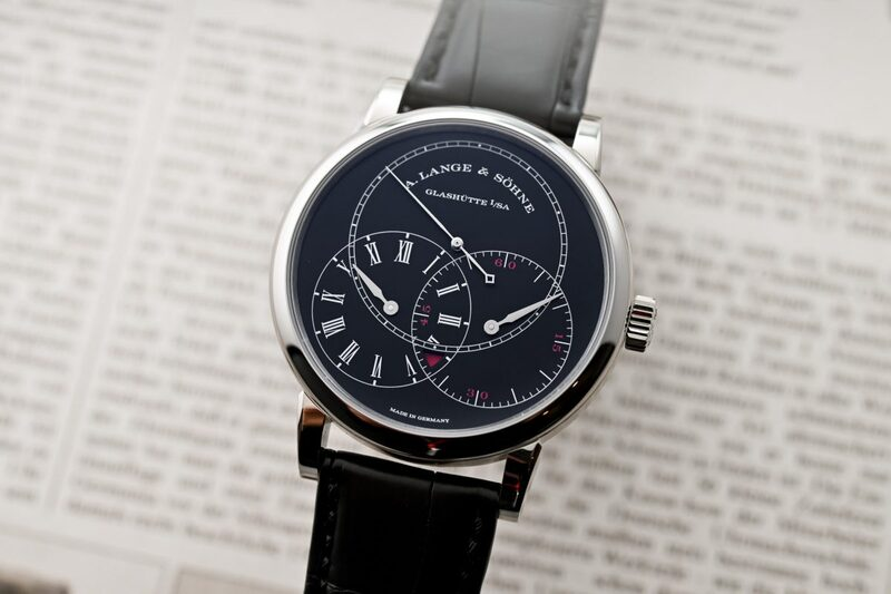 A. Lange & Söhne Richard Lange Jumping Seconds White Gold and Black Dial