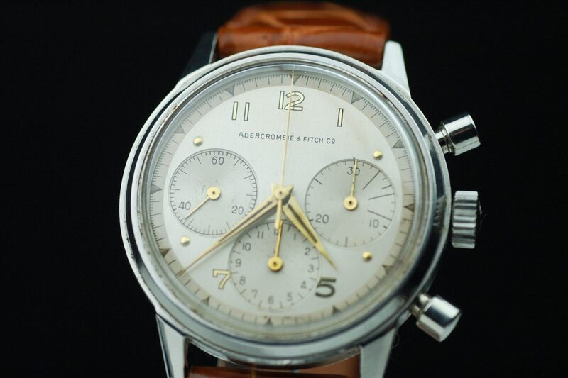 Abercrombie & Fitch 1950s Tri-Compax Chronograph