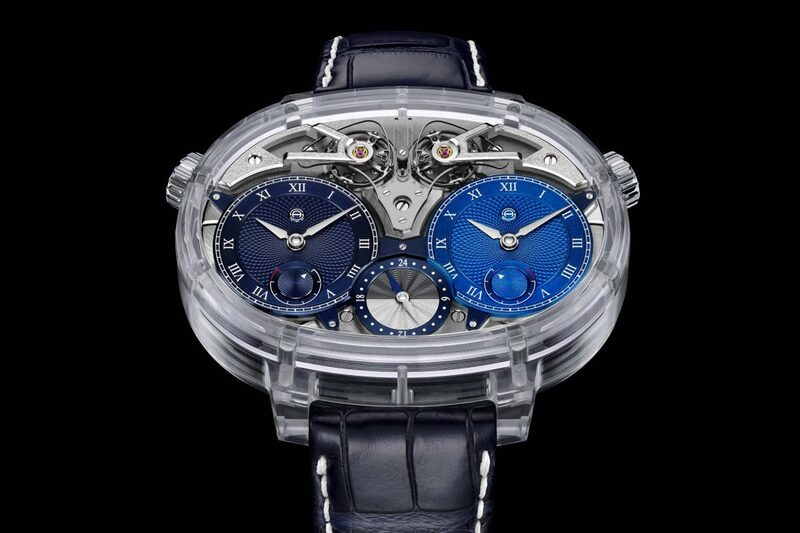 Armin Strom Dual Time Resonance Sapphire – Total Transparency on the Dual Movement