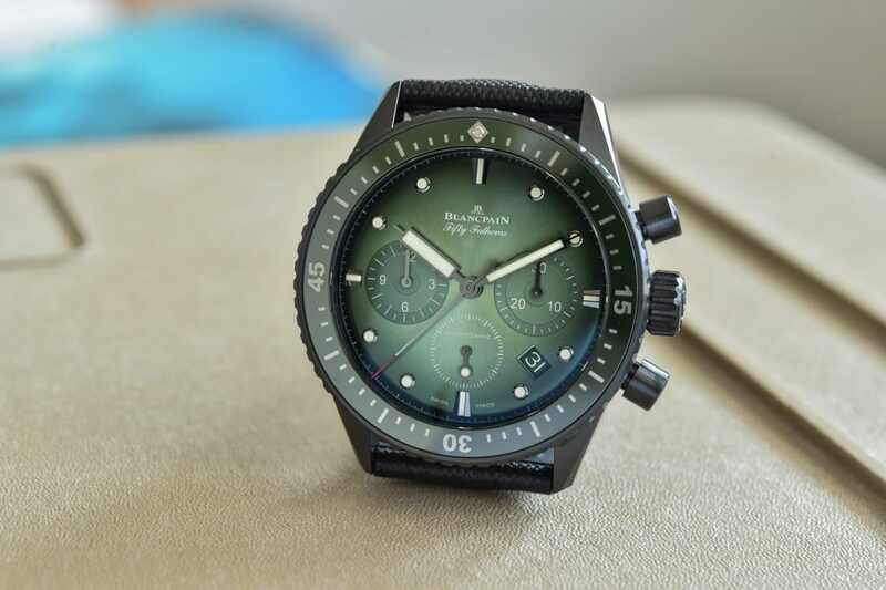Blancpain Bathyscaphe Chronograph Flyback, Now With Green Dial (Live Pics & Price)