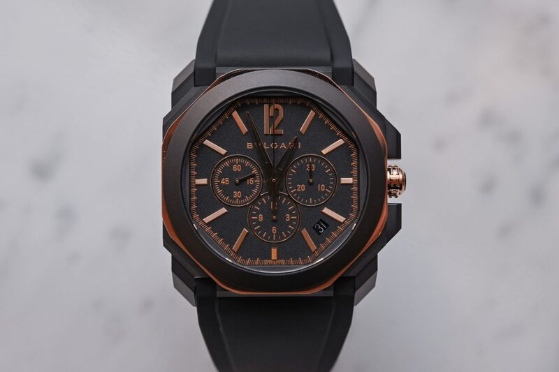 Bvlgari Octo L'Originale Solotempo and Chronograph Dressed in Stylish Black-DLC and Gold