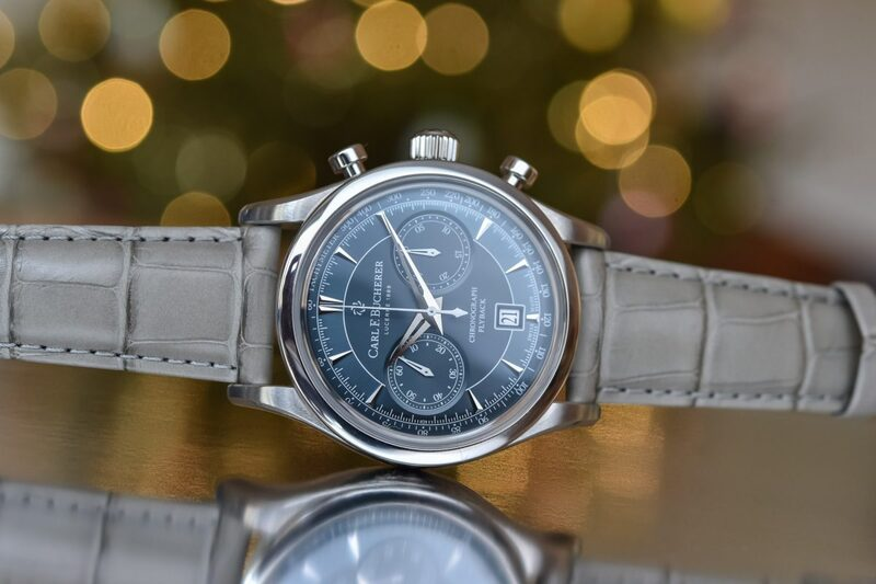 Carl F. Bucherer Manero Flyback with Blue Dial