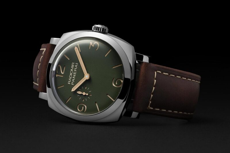 Four Classic Panerai Radiomir Watches now with Military-Green Dials