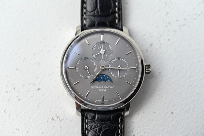 Frederique Constant Slimline Perpetual Calendar Manufacture Now With Grey Dial (Live Pics)