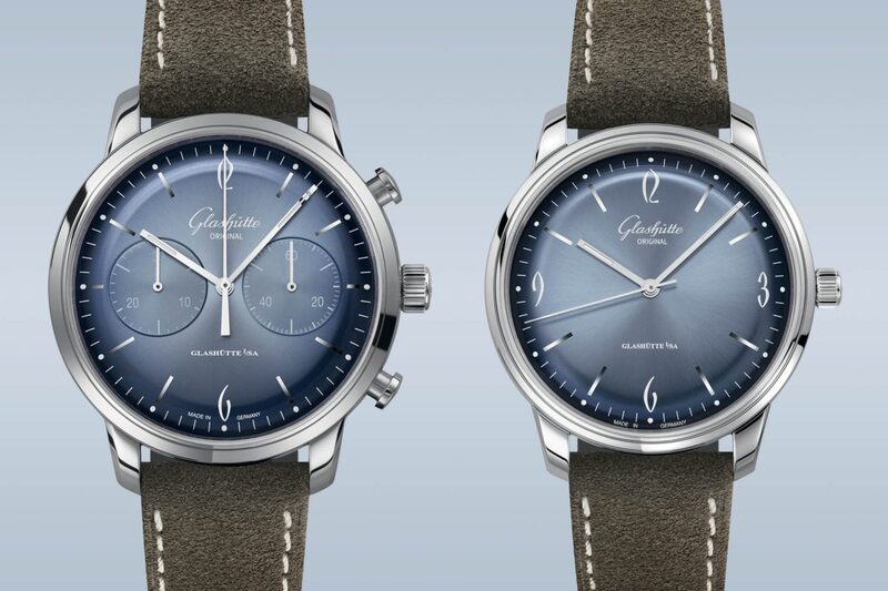 Glashütte Original Sixties and Sixties Chronograph Annual Edition 2020, in Glacier Blue