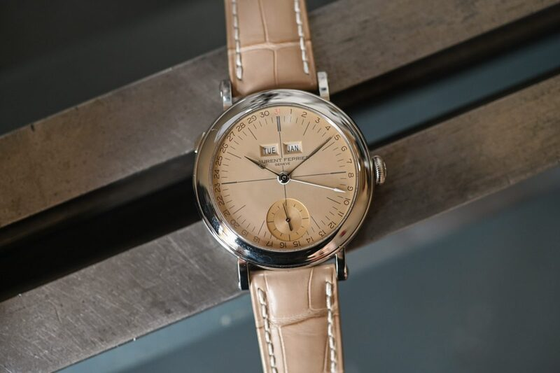"""Laurent Ferrier Galet Annual Calendar """"Vintage"""" with Opaline Yellow Gold Dial"""