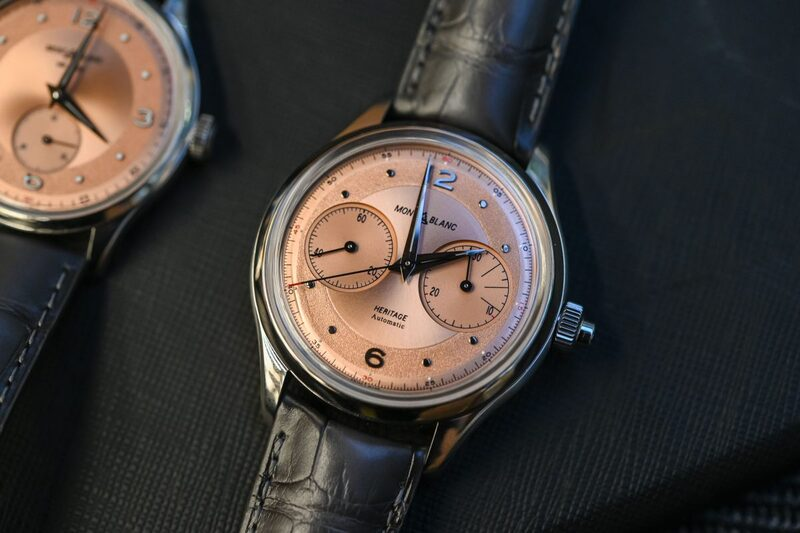 Montblanc Heritage Monopusher Chronograph, Now with a Handsome Salmon Dial