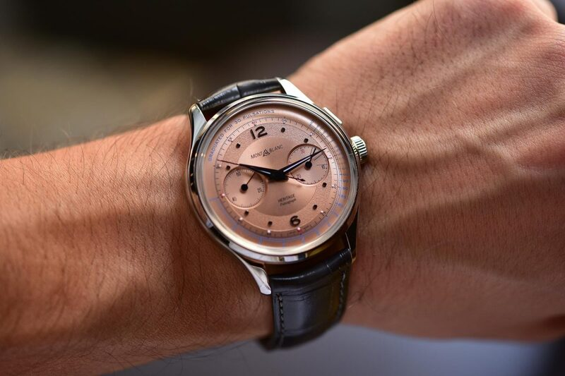 Montblanc Heritage Pulsograph – Minerva Movement and Gorgeous Salmon Dial (Hands-On)