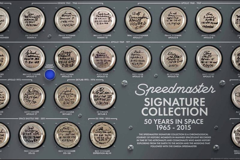 Speedmaster Signature Case Back Collection (50 Years In Space)