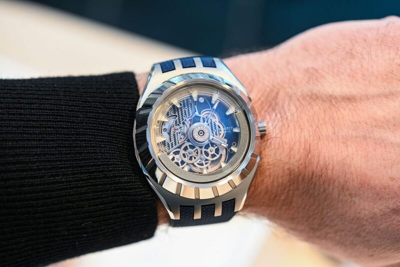 Swatch Flymagic – Inverted Automatic Movement and First Watch with Nivachron Hairspring (Hands-On)