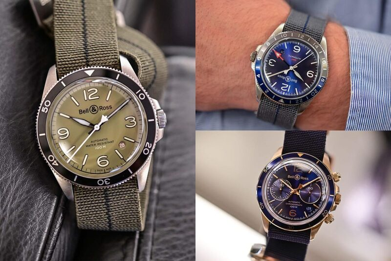 The 3 New Bell & Ross Vintage Models – Military Green, GMT Blue and Aeronavale Bronze
