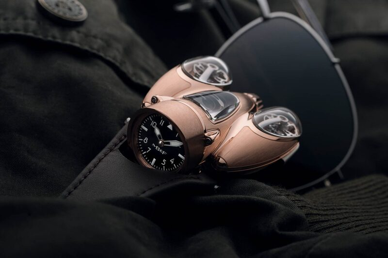 """The MB&F HM9 Flow """"Air"""" and """"Road"""" Editions now in Red Gold"""