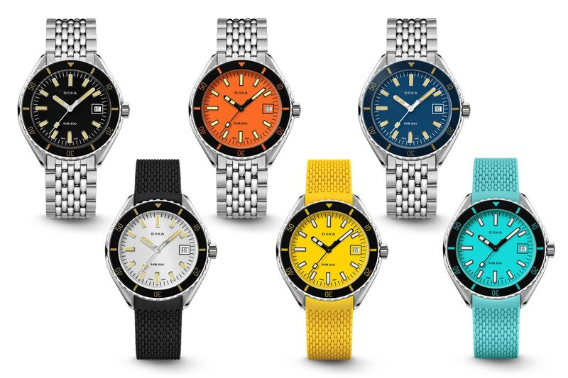 The New, Accessible and Colourful Doxa Sub 200 Collection