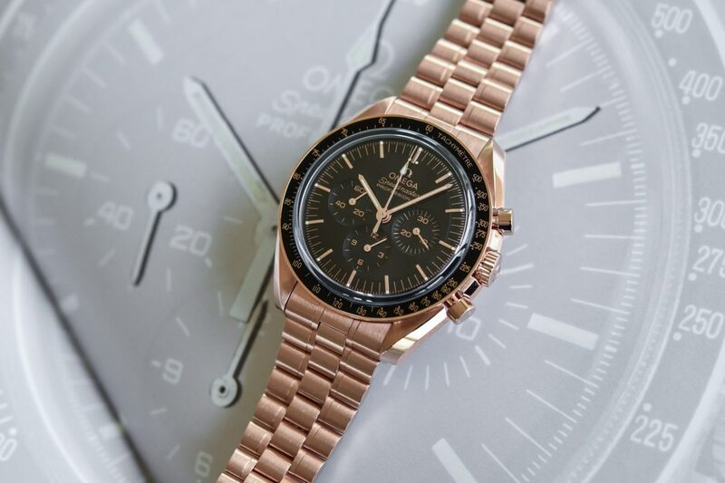 The New Omega Speedmaster Moonwatch Professional Sedna Gold