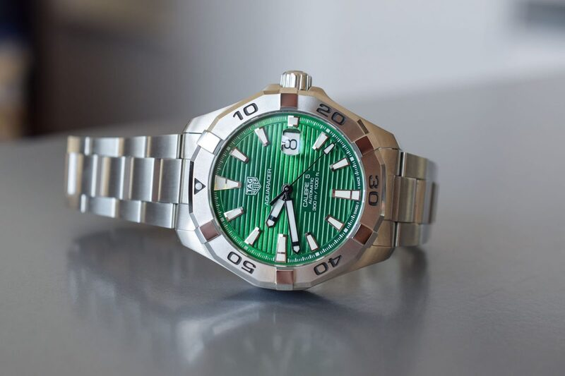 The New TAG Heuer Aquaracer with Green Dial