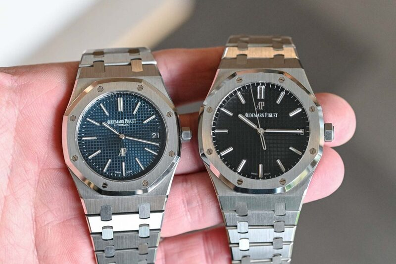 """The RO Battle – The New Audemars Piguet Royal Oak 15500 Compared to the """"Jumbo"""" 15202"""