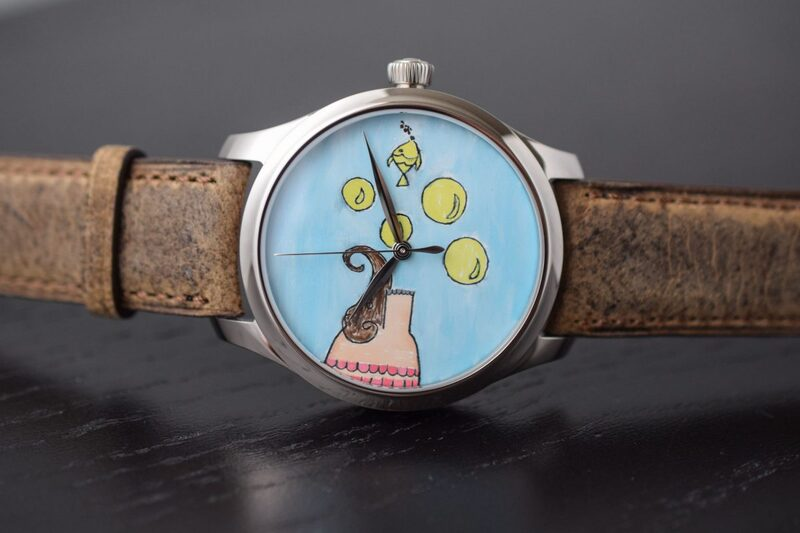 """Two Unique H. Moser Watches with Dials Designed by Children for Charity """"Room To Read"""""""