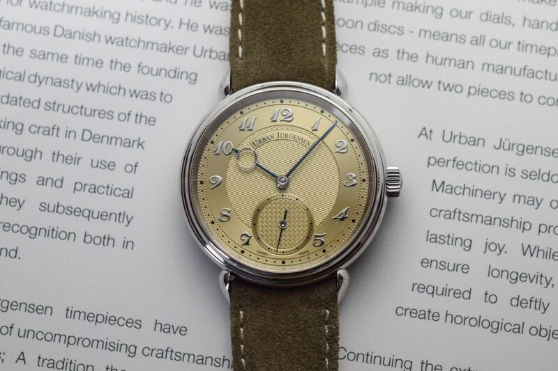 Urban Jürgensen Reference 1140 Champagne Dial, with Steel Case